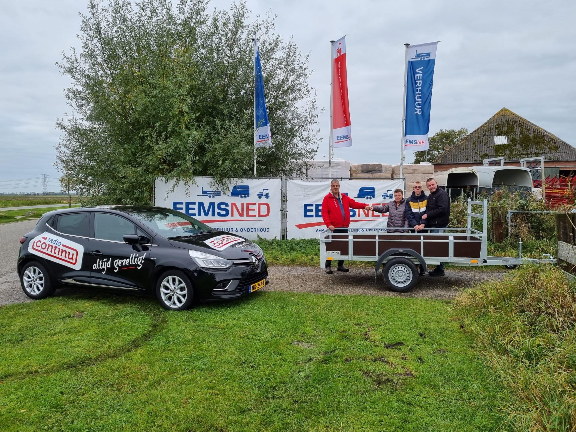 Fam Hartong uit Coevorden winnaars van de Eemsned aanhanger